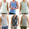 Threadbare Mens Rio, Kedgeree Or Redmond Floral Vests Hawaiian Muscle Back Tops