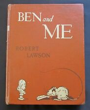 Ben and Me ~As Written By His Good Mouse Amos ~ Robert Lawson ~ Ex-Lib Lib Bound