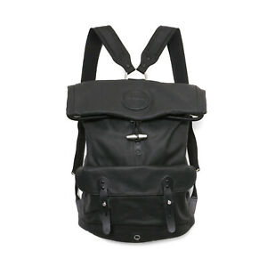 Stighlorgan Reilly Laptop Backpack in Black Lacquered Canvas with Rolling top