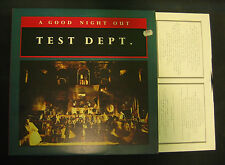 TEST DEPT. A Good Night Out UK 1987 Vinyl LP Ministry Of Power / Some Bizzare