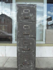 Vintage Industrial 1950's  Metal Filing Cabinet / Industrial Chest Of Drawers