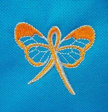Orange Butterfly Ribbon Shopping Grocery Tote Bag Leukemia Awareness Blue New