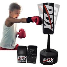 PDX Kids Free Standing Punch Bag Set Junior Freestanding Punching Boxing Gloves