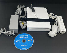 Nintendo Wii RVL-001 Console Hook Ups 1 Controller 1 Nunchuk w Wii Sports Tested
