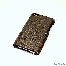 iPod touch 4th Gen - CROCODILE Leather Cover Case | Simplism TR-LCSTC4-CGM/EN