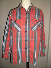 Sugar Cane Highest Quality Multi Colors Lines Cotton Work Shirt Size M