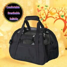 Pet Carrier Soft Sided Large Cat / Dog Comfort Mineral Black Bag Travel Approved
