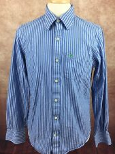 Abercrombie & Fitch Muscle Long Sleeve Shirt Blue White Stripe Men's Large