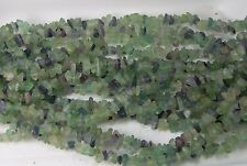 India 100% Natural Green Fluorite  Chip Bead Crystal Strand 36""