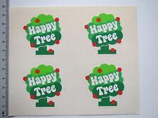 4 x Aufkleber Sticker Happy Tree (M1640)