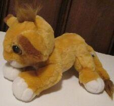 "LION KING Plush Floppy BABY SIMBA stuffed doll 10"" long, Disney 1993 Mattel RARE"