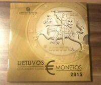 Offizieller - ERSTER- EURO Kursmünzensatz / KMS Litauen 2015 BU       1 Cent - 2