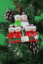 ALBERO di Natale personalizzata Decorazione Ornamento Pala famiglia di 6