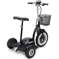Electric Mobility Vehicle Scooter MotoTec Trike 350 Watt Seat 36v Hub Motor 2015