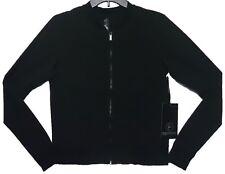 e3075f619d 90 Degree Active Wear Full Zip Elegant Black Jacket Women's Size Medium New