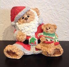 "Cast Art Industries Cuddl'somes ""Dear Santa"" Bear Figurine"