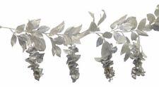 Wisteria Garland Silver 25th Anniversary Wedding Silk Flower Arch Gazebo Decor