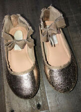 Kenneth Cole Reaction Rose Bow T Girls' Toddler Slip On Zip up Dress shoes Size7