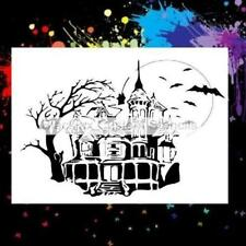 Haunted House Airbrush Stencil,Template