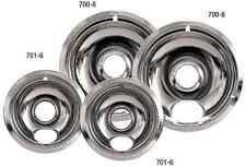4 Set Universal Electric Range Chrome Reflector Bowls Stove Cooktop Drip Pan NEW