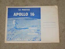 12 - NASA APOLLO 16 JOURNEY TO DESCARTES COLOR and B&W PHOTOS with ENVELOPE