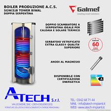 Boiler 300 litri doppia serpentina vetrificato Galmet SGW(S)B