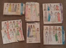 Vintage Lot 9 Bridal Formal Dress Patterns Wedding Gown 1960's & 1970's