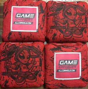 Game Changer Cornhole Bags Red ACL Pro Stamp 2020/2021 Matt Morton