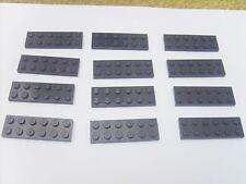 Lot pièces LEGO STAR WARS ou CASTLE: 12 PLAQUES NOIRES 6X2 - TBE