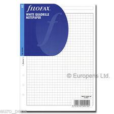 Filofax Insert A5 white Quadrille Paper 342905