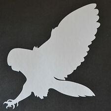 16cm BIRD OF PREY SILHOUETTE OWL BARN SNOWY TAWNY HUNTING FALCONRY STICKER DECAL