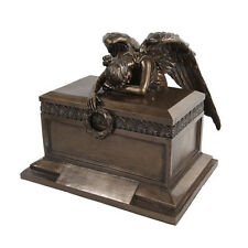 ANGEL OF BEREAVEMENT URN STATUE CEMETERY ANGEL CREMATION WHEEPING URNA  BIBLE