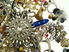 Vintage Crystal Jewels Stones Parts Jewelry Mixed Findings Handy Repair AS IS