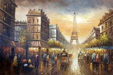 Paris France Cafe Eiffel Arc Notre Dame Wine Provence Provence Art Oil Painting