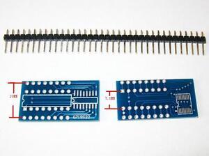 2x SOP16 SO16 TSSOP16 to DIP16 adapter PCB convertor