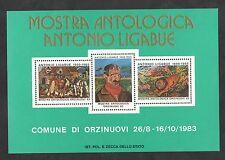 1983 MOSTRA ANTOLOGICA ANTONIO LIGABUE FOGLIETTO ERINNOFILO COMUNE DI ORZINUOVI