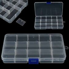 15 Adjustable Compartment Plastic Fly Fishing Lures Hook Assortment Baits Box
