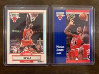 Michael Jordan 1990 1991 Fleer Lot (2) Chicago Bulls 90's Sharp🔥🔥🔥