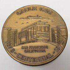 1973 San Fransisco California U.S. Father of the Cable Car Centennial Token B140