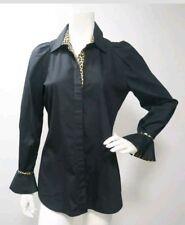 Just Cavalli black and leopard shirt, size 42