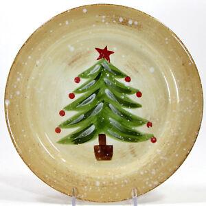 "Tabletops Gallery WINTER WONDERLAND 8.75"" Salad Plate Christmas Tree Farrucci"