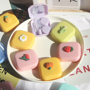 Candy Solid Color Portable Cute Contact Lenses Box Lens Case For Eyes C*wf