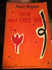 Henri Bergson Time and Free Will Paperback 1960 First Harper Torchbook Edition