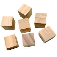 10 PCS Holzwürfel Natürlich Blanko Holzklötze Unvollendete Quadratische
