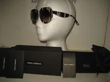 8436f56037f1 NEW D G Dolce   Gabbana DG4191P Oversize Brown White Stripes Sunglasses ...