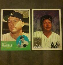 1996 Topps Baseball Mickey Mantel 2 Card LOT #7 and#200