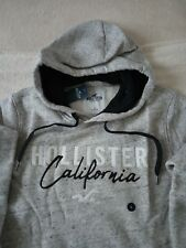Mens Hollister by Abercrombie & Fitch Fleece Hoodie Sweatshirt Size Large