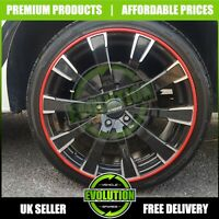 RED Rimblades Alloy Wheel Edge Ring Rim Protectors Tyres Tire Guard Moulding