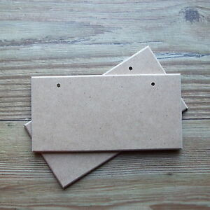 2 Blank Signs MDF with Holes, Wooden Plaques 200x100