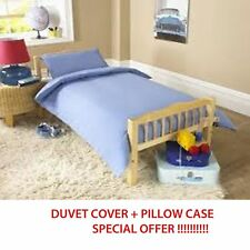 BRAND NEW BABY COT DUVET COVER WITH PILLOWCASE 90cm x 120cm BLUE